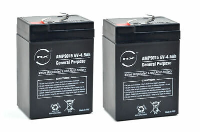 PACK of 2 Replacement Batteries for Waverunner SHUTTLE Bait Boat | 6V 4.5ah