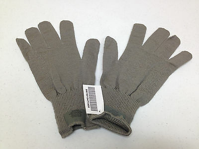 Army Issued Wool Glove Inserts Liners Cw Lightweight Medium Large Gray Nwt 1809