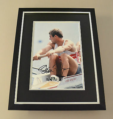 Sir Steve Redgrave Signed Framed 16x12 Photo Autograph Display Olympics + COA