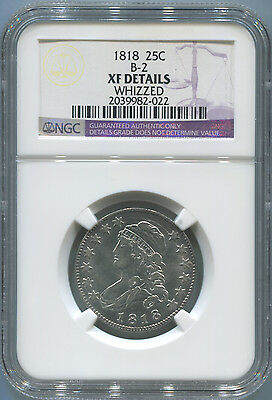 1818 Capped Bust Quarter. NGC XF Details. B-2 Variety
