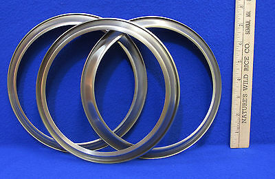 NOS Silver Tone Plated Metal  Light Fixture Fitter Ring Lot of 3