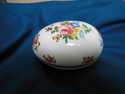 Vintage China by Hammersley & Co. Easter Candy Dish Dresser Box, Egg Shaped