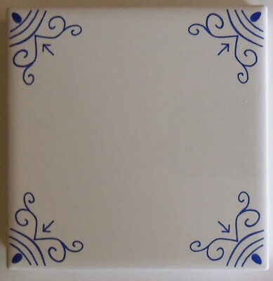 Blue & White Delft Ox Head Wall Tiles