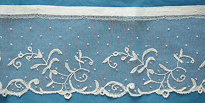 192 ins antique/vintage spotted Brussels applique lace  from France
