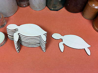 WOODEN TURTLE Shapes 10cm (x10) laser cut wood cutouts crafts blank shape