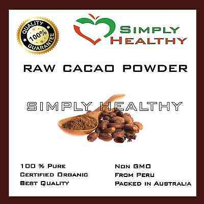 RAW CACAO POWDER 250g CERTIFIED ORGANIC BEST QUALITY SUPER FOOD AVAILABLE