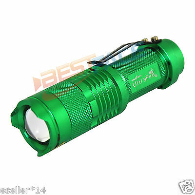 EF29 14500 Cree sk68 XPE-Q5 LED 300lm Flashlight Light 1 mode Torch with clip