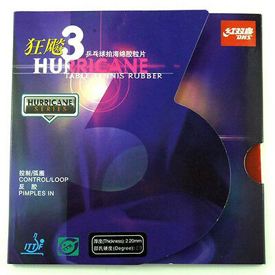DHS Hurricane3 Table Tennis Rubber With Sponge, Pips-in, World Champions, New