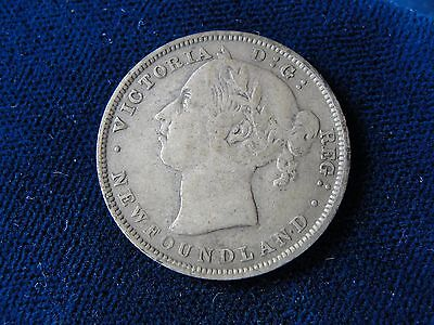 1888 Newfoundland / Canada 20 Cent Silver Scarce Date