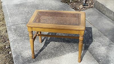 Antique Vintage Cane seat Cushion Vanity Bench Seat Chair