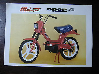 Moto Cyclomoteur Malaguti Catalogue Brochure  Prospectus  Drop 45 1983