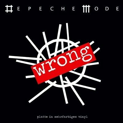 """Depeche Mode Wrong limited edition numbered red marble vinyl 7""""  NEW/SEALED"""
