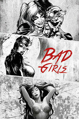 (LAMINATED) Cd Comics Bad Girls Pinup POSTER (61x91cm) Picture Print New Art