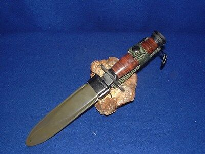 """NEW!!! 12"""" WWII M1 CARBINE , LEATHER HANDLE, TRENCH KNIFE BAYONET WITH SHEATH"""