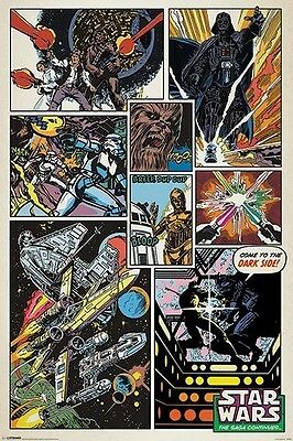STAR WARS RETRO COMIC COVER POSTER The Saga Continues NEW LICENSED ART