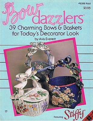 Plaid Bow Dazzlers Craft Book # 8388 Bows & Baskets DIY Decorating Home Decor