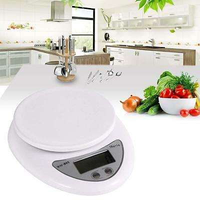 5kg LCD Digital Electric Kitchen Weight Scale Postal Diet Food Weigh Balance SS