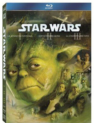 Star Wars Prequel Trilogy 1,2,3 (3 Blu-Ray) Cofanetto Saga Star Wars