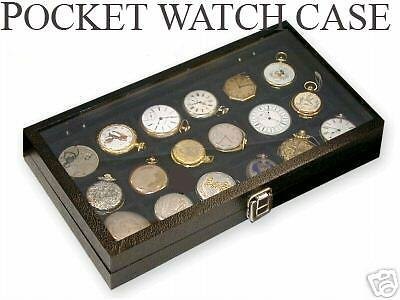 18 Pocket Watch Display Case Storage Box For 18 Watches new