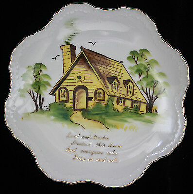 """Lefton Collectible Plate """"Lord and Master"""" Home Blessing NE 3665 7 1/2"""""""