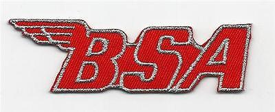 RED BSA Embroidered Sew On Biker patch Classic Motorcycle Chopper