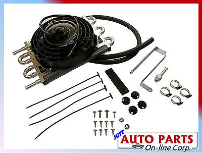 """Universal Auto Trans Oil Cooler w/ fan 8"""" ALL GMC CHEV FORD fits NISSAN TOYOTA"""