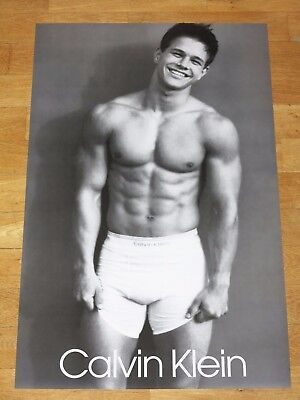 MARKY MARK WAHLBERG CALVIN KLEIN PROMO POSTER GAY NICE VINTAGE COMMERCIAL 90s