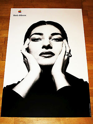 APPLE THINK DIFFERENT POSTER - MARIA CALLAS / 24 x 36 by STEVE JOBS 61 x 91 CM