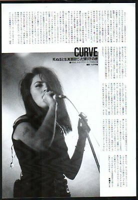 1992 Curve on stage 1pg 1 photo in JAPAN magazine article / press clipping c11r