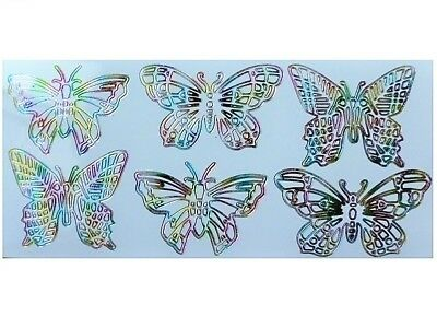 MULTICOLOUR BUTTERFLIES Peel Off Stickers Large Spring Butterfly Card Making