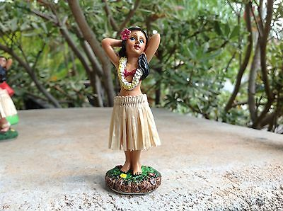 "Dashboard Aloha Doll Hula Girl Hawaiian Car Dance Polyresin 4"" Tall   #40795"