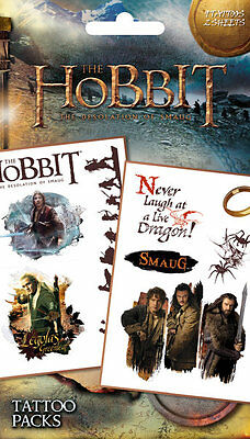 Official The Hobbit - Desolation Of Smaug - Temporary Tattoo Pack
