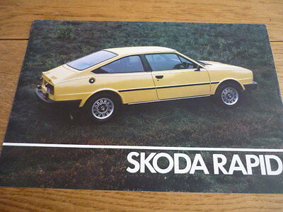 SKODA RAPID SALES BROCHURE 1982 83  jm
