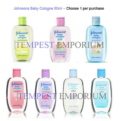 Johnsons Baby Cologne Selection 50ml Reg Powder Mist Heaven Travel Size New