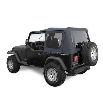 Jeep Soft Top for Wrangler YJ With Tinted Windows in Black Sailcloth
