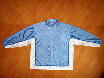 vintage NORTH CAROLINA TAR HEELS NIKE BASKETBALL WARM UP JACKET MENS XL