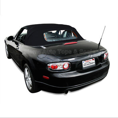 Miata Convertible Top for 06-14 in Black Stayfast Cloth, Heated Glass Window