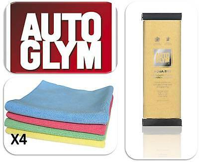 Autoglym Car Van Vehicle Hi Tech Aqua Dry Valet Wash Cloth & 4 Microfibre Cloths