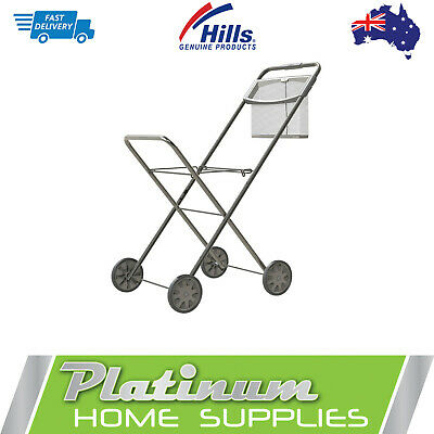 Laundry Trolley Hills Panache Deluxe Peg Basket Washing Clothes Cart Collapisble