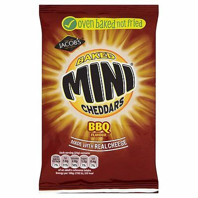 Mcvities BBQ Mini Cheddars 50g (FULL CASE 30 Packs) *CHEAPEST*