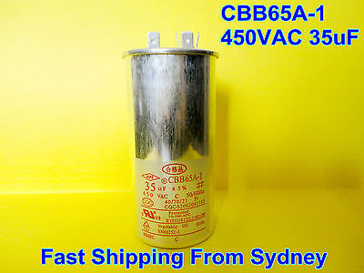 CBB65A-1 450VAC 35uF Air Conditioner Appliance Motor Run Capacitor **NEW**