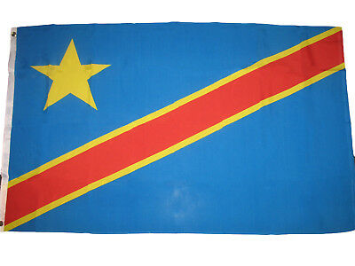 3x5 Democratic Republic of the Congo Flag 3'x5' Banner Grommets Fade Resistant