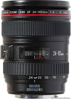 Canon EF 24-105mm F/4 L IS USM Lens For EOS 1D 5D 7D 70D 60D 50D T5i T4i MINT