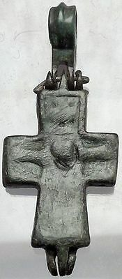 Medieval Christian Byzantine Reliquary Cross Crucifix circa 1000 - 1200AD i49840