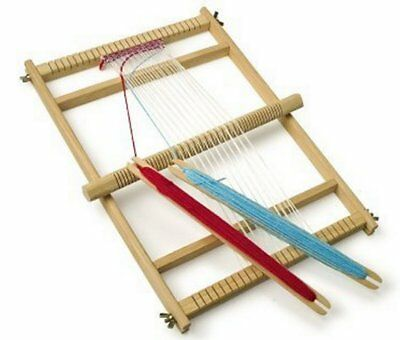 Traditional wooden weaving loom set