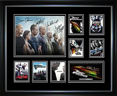 Paul Walker Fast & Furious Series Signed Framed Memorabilia