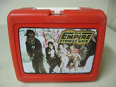 Collectible 1980 The Empire Strikes Back Red Plastic Lunch Box