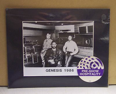 1986 Genesis Band Matted Picture / Photo & Concert Michelob Hospitality Pass