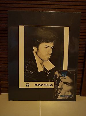 1988 George Michael Matted Picture / Photo & Concert Pass Kdwb St Paul Mn Lot#1