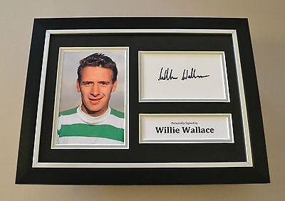 Willie Wallace Signed A4 Photo Framed Display Autograph Celtic Memorabilia + COA